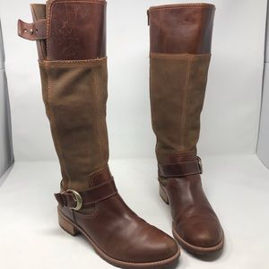 Timberland Knee High brown Leather Boots